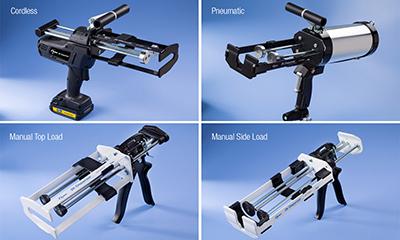 Nordson EFD Manual, Neumática y Pistolas Inalámbricas de Dispensación en bicomponentes para Materiales Adhesivos