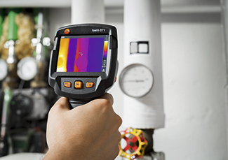 Cámara termográfica testo 871 para el mantenimiento industrial