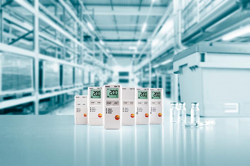 Testo 184 para la monitorización y documentación de temperatura, humedad y vibraciones en la logística farmacéutica